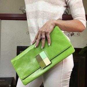 AMICI green fun retro clutch purse bag